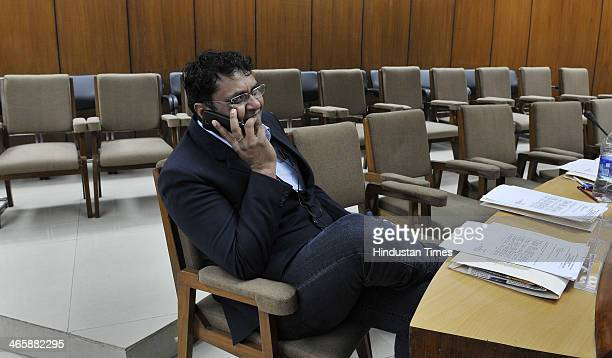 Expelled Aam Aadmi Party MLA Vinod Kumar Binny during orientation programme for newly elected MLAs from Delhi at Delhi Vidhan Sabha on January 30...