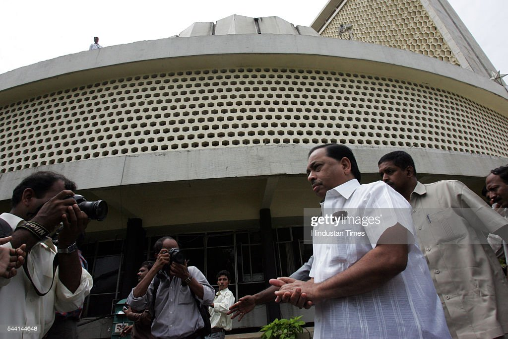 Expelled party leader Narayan Rane walks towards the Vidhan Bhavan before he resigned from his post of leader of the opposition in the Maharashtra legislative assembly on Tuesday. The former chief minister said he owed his success to Shiv Sena supremo Balasaheb Thackeray. ''I am a Shiv Sainik and I can't think of being anybody else.''