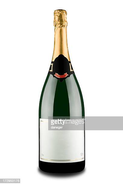 Costosa bottiglia di Champagne (Clipping path