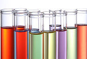 colorful science laboratory test tubes