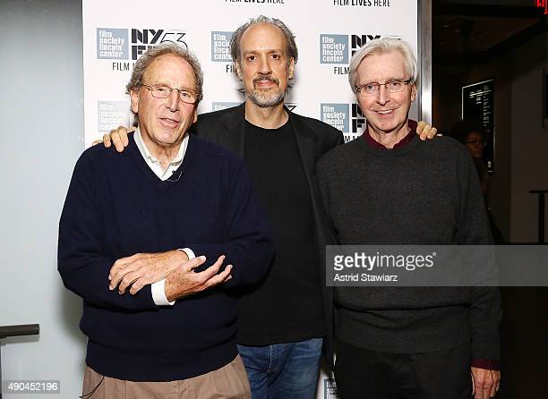 Experimental filmmaker Nathaniel Dorsky Director of Programming for New York Film Festival Kent Jones and experimental filmmaker Jerome Hiler pose...