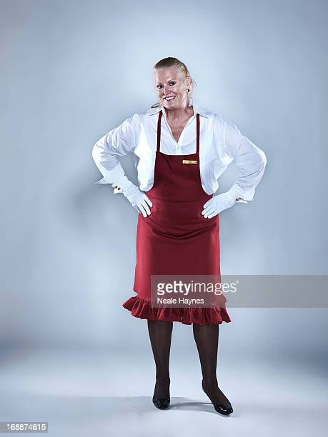 Expert cleaner and tv presenter Kim Woodburn is photographed on August 28 2012 in London England