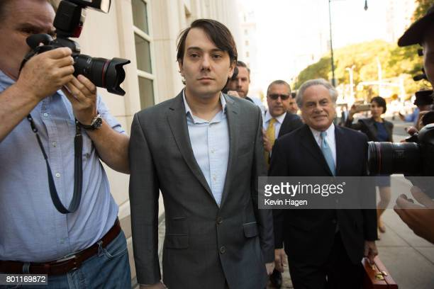 Expharmaceutical executive Martin Shkreli arrives at the US District Court for the Eastern District of New York on the first day of his securities...