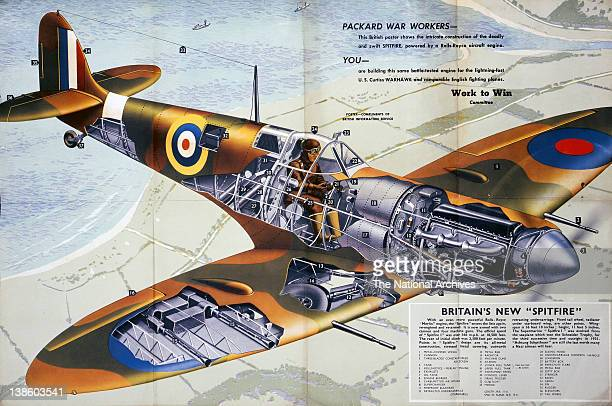 Exploded detail view of the WWII British Spitfire