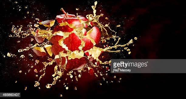 Exploding apple
