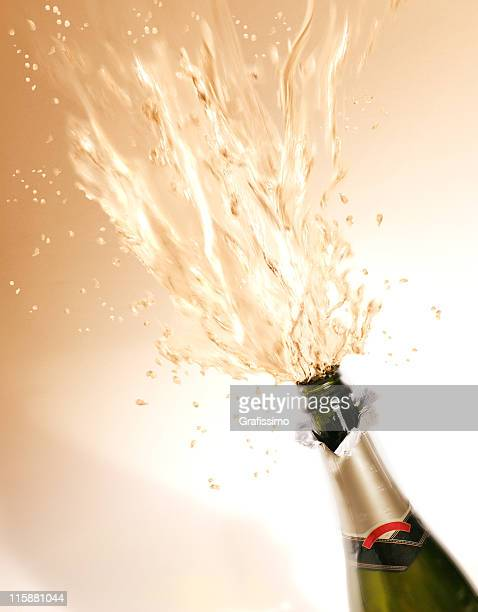 Exploding bottle of champagne