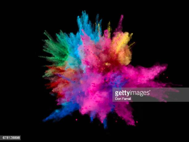 Exploding Colored Powder