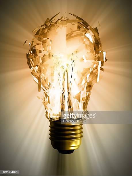 Explodieren Glühbirne