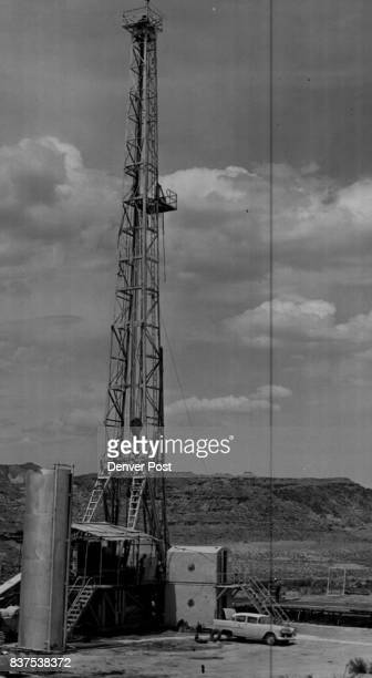 Exploration drilling rig Navajo G3 of the Texas company in Aneth field of southeastern Utah Credit Denver Post