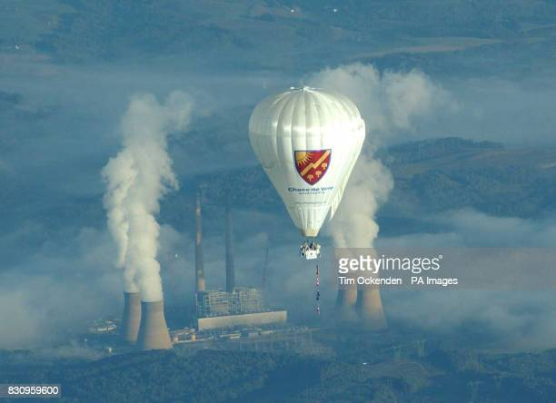 Explorer David HempelmanAdams sets off from Allegheny County Airport Pennsylvania on his recordbreaking attempt to cross the Atlantic in a balloon...