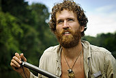 Explorer in Amazon Jungle