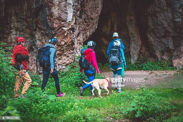 Explorers and the cave