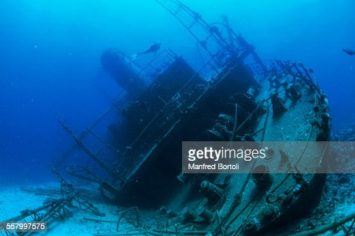 Exploring a shipwreck in the Red Sea