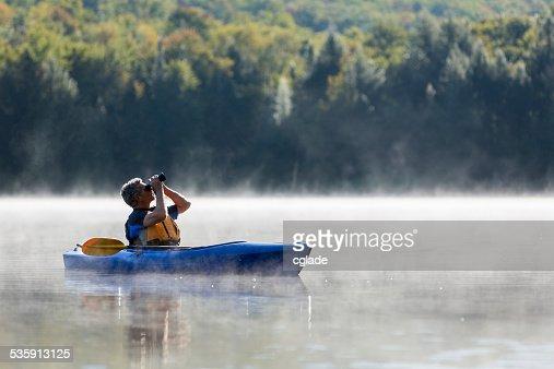 Exploring by Kayak : Stock Photo