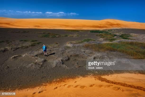 exploring Maspalomas desert