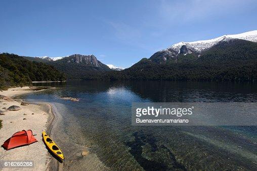 Exploring Patagonia Sea Kayak : Stock Photo