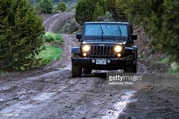 Exploring Wet and Muddy Roads by Jeep 4x4