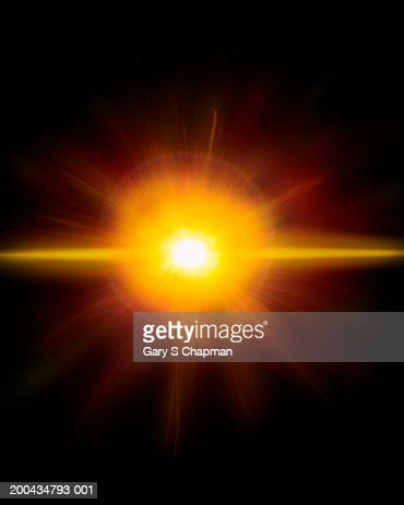Explosion in deep space : Stock Photo