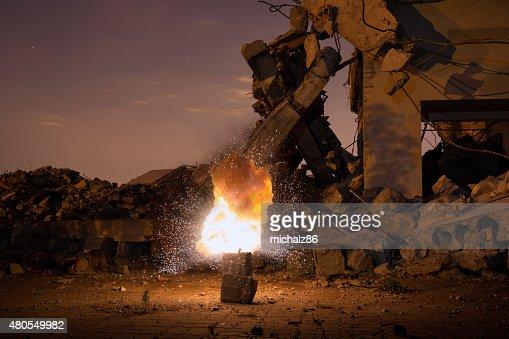 Explosión de la antigua hall : Foto de stock