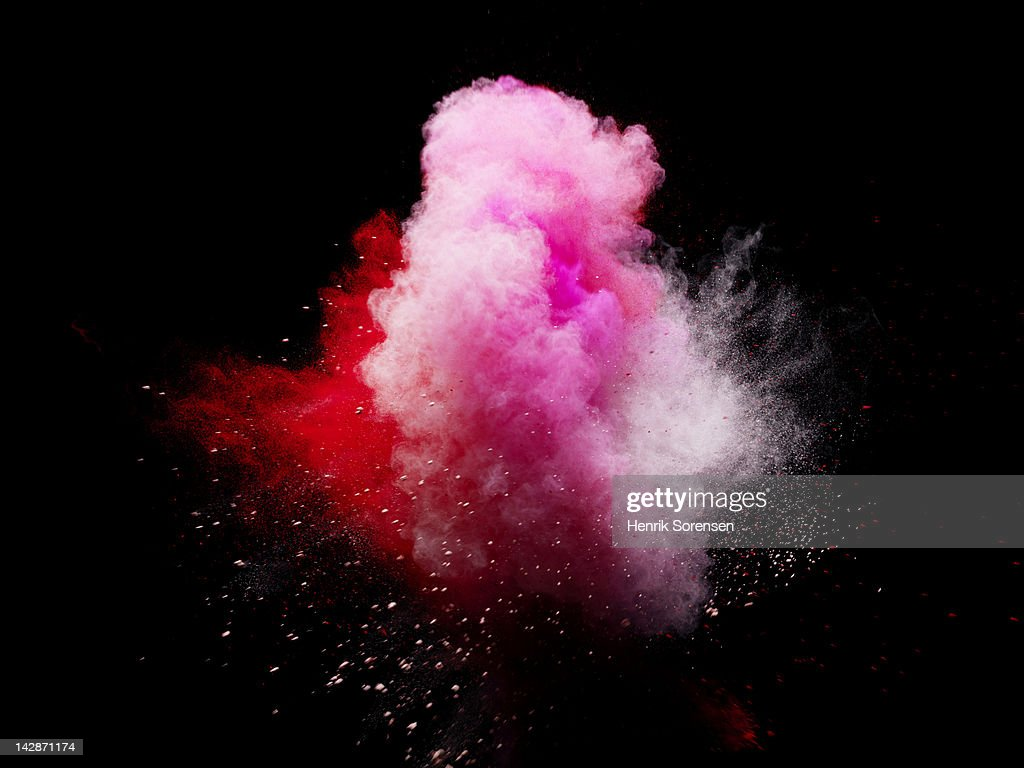 explosion of colored powder : Stock Photo