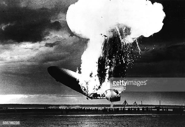 Explosion of dirigible 'Hindenburg' May 6 Germany National archives Washington
