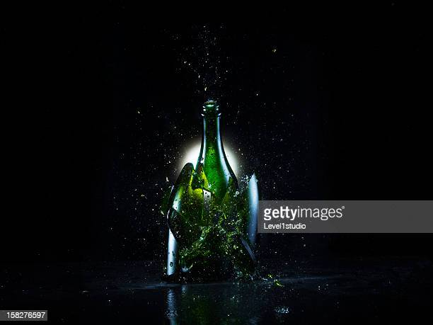 Explosion of the bottle