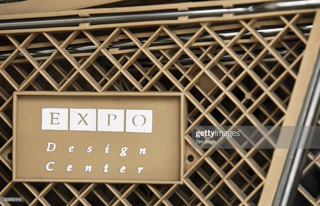 Expo Design Center signage is seen on a shopping cart visible through a window of a closed Expo Design Center store August 10, 2005 in Schaumburg, Illinois. Home Depot has said it plans to close a third of its Expo Design Centers in the US, closing three of its five stores in the Chicago area.
