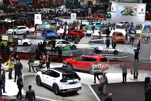 Exposition of modern cars on the motor show