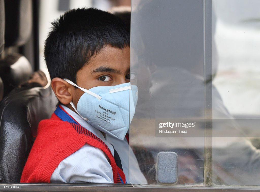 Exposure to highly polluted air can lead to slow growth in children, on November 14, 2017 in Gurgaon, India. Delhi battled with severe air pollution on Tuesday as well. The Air Quality Index improved to an average reading of 308, even as the Delhi government extended the ban on entry of trucks. Here are the live updates of the situation in the National Capital Region.