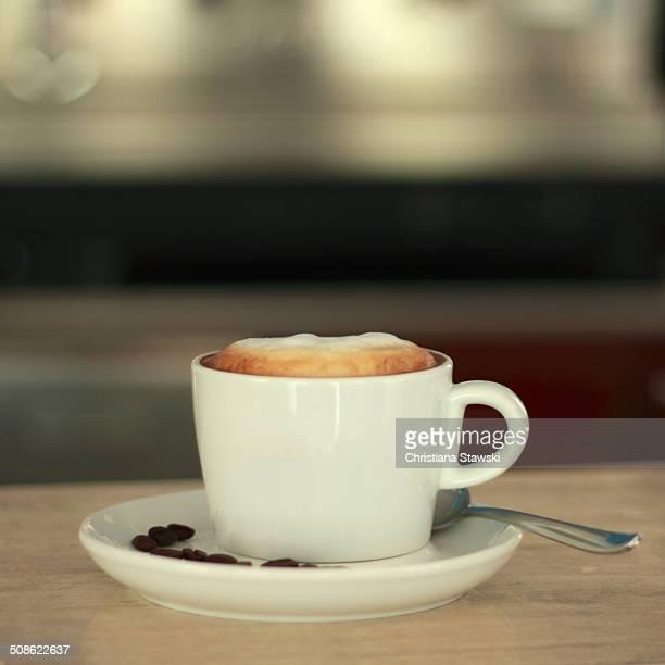 Express cappuccino at a bar