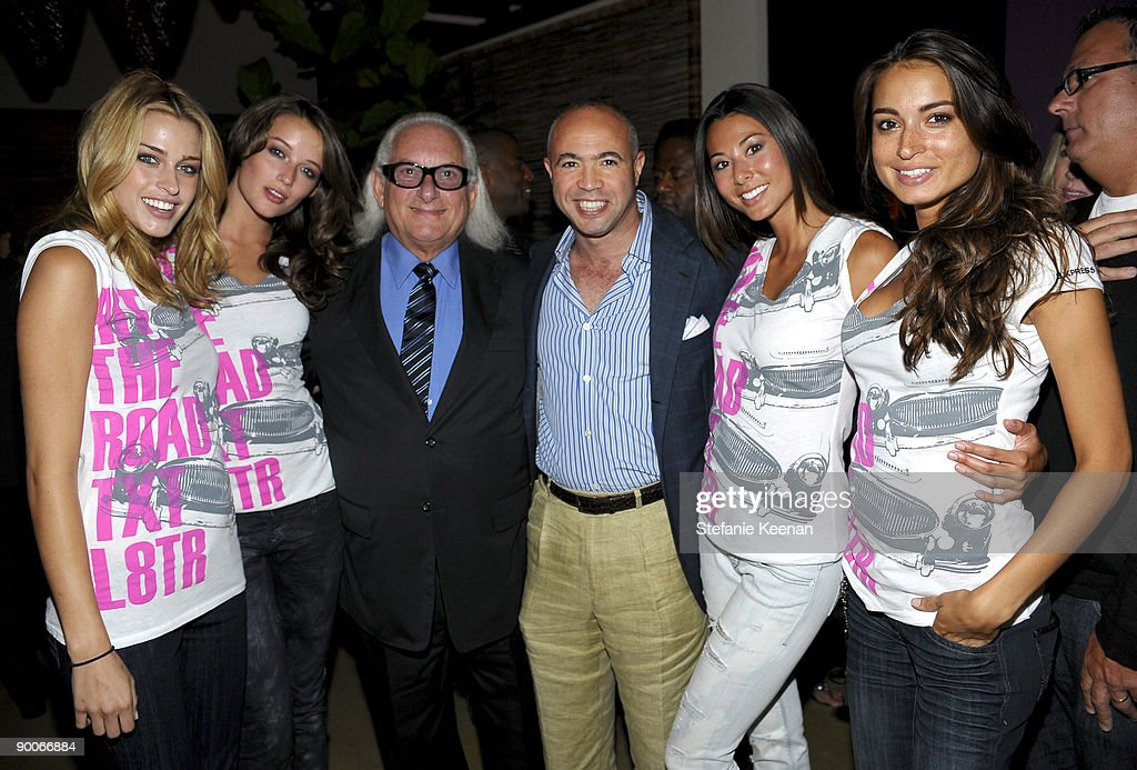 Express Models, Michael Weiss and Stephen Kaluzny attend The Hit the Road TXT L8TR Campaign Event at Nobu on July 29, 2009 in Los Angeles, California.