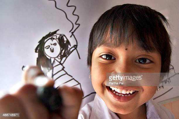 Expressive 5 year old Indian Girl