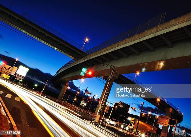 Expressway  at  dusk
