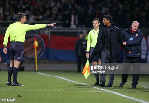 Expulsion Frank RIJKAARD / Stefano FARINA Lyon / Barcelone Champions League Photo Dave Winter / Icon Sport