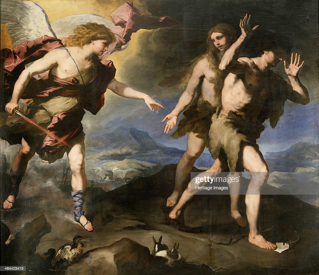 'Expulsion from Paradise' second half of 17th century Found in the collection of the State Openair Museum Palace Gatchina St Petersburg