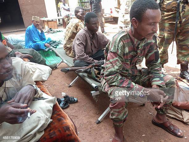 FORT ExSeleka soldiers wait in their base camp in Bangui on December 11 2013 France launched Operation Sangaris the week before after a day of...