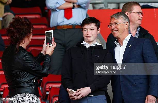 ExSouthampton manager Nigel Adkins poses for photographs prior to the Barclays Premier League match between Southampton and Crystal Palace at St...