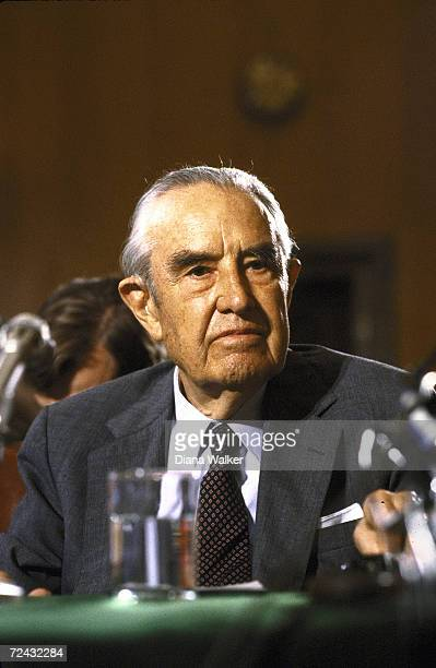ExStatesman Averell Harriman testifying before Senate Foreign Relations Committee hearing re Soviet relations