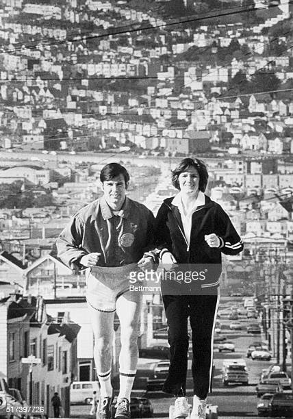 ExSupervisor Dan White who is being held in the fatal shooting of San Francisco Mayor George Moscone and Supervisor Harvey Milk jogs up a hill in the...
