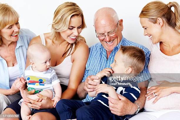 Familie, die eine gute Zeit