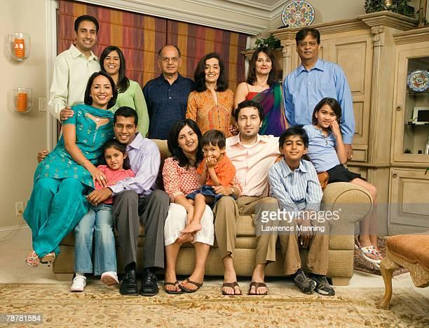 Extended Family in Living Room