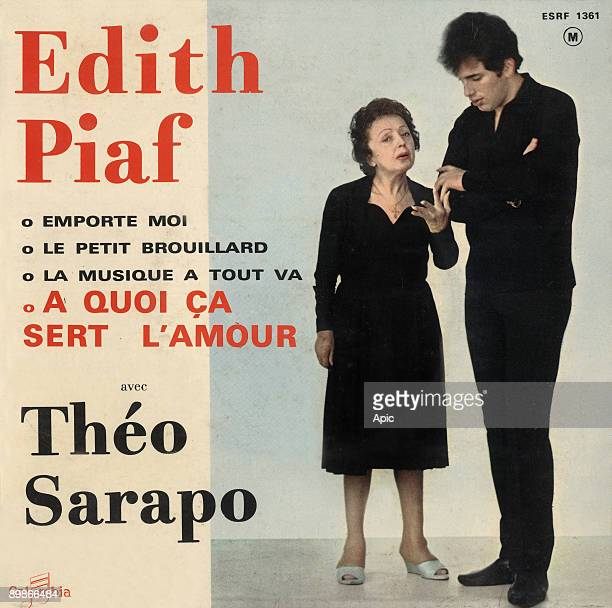 Extended play vinyl record sleeve of Edith Piaf and Theo Sarapo 'A quoi ca sert l'amour' 1962