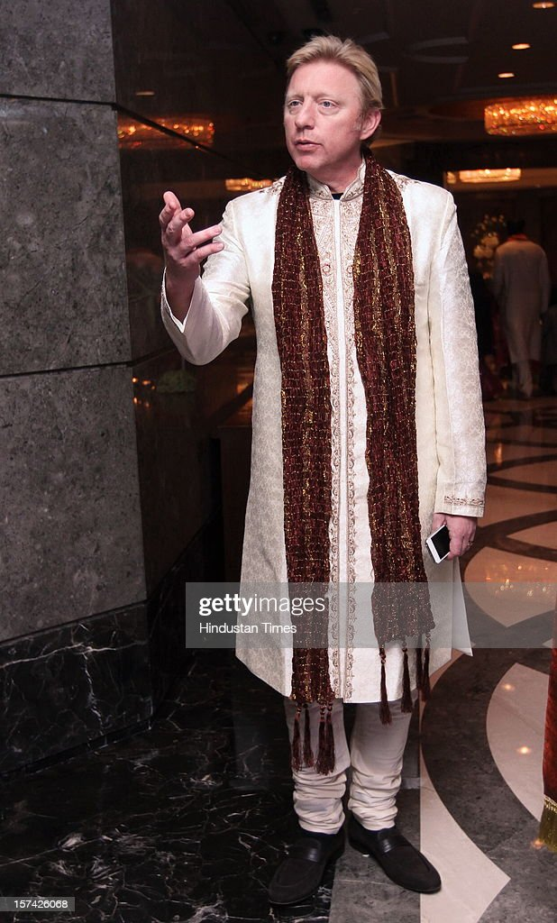 Ex-Tennis star Boris Becker attending the marriage reception of YES Bank founder Rana Kapoor's daughter at Taj Palace on November 30, 2012 in New Delhi, India. Kapoor is the MD & CEO of YES Bank, which is the 4th largest private sector bank in the country.
