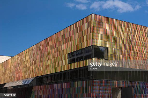 Exterior angled view of the new Museum Brandhorst in Munich