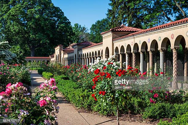 Exterior cloister portico of the Franciscan Monastery of the Holy Land in America