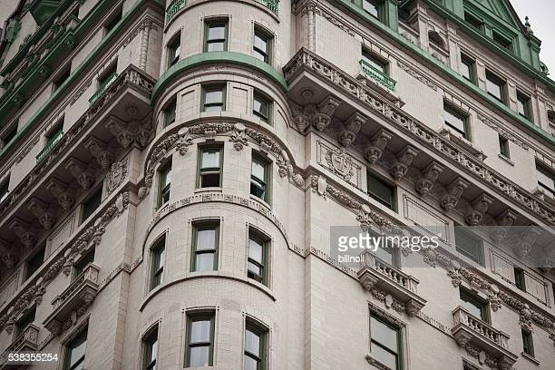 Exterior corner of Plaza Hotel in NYC
