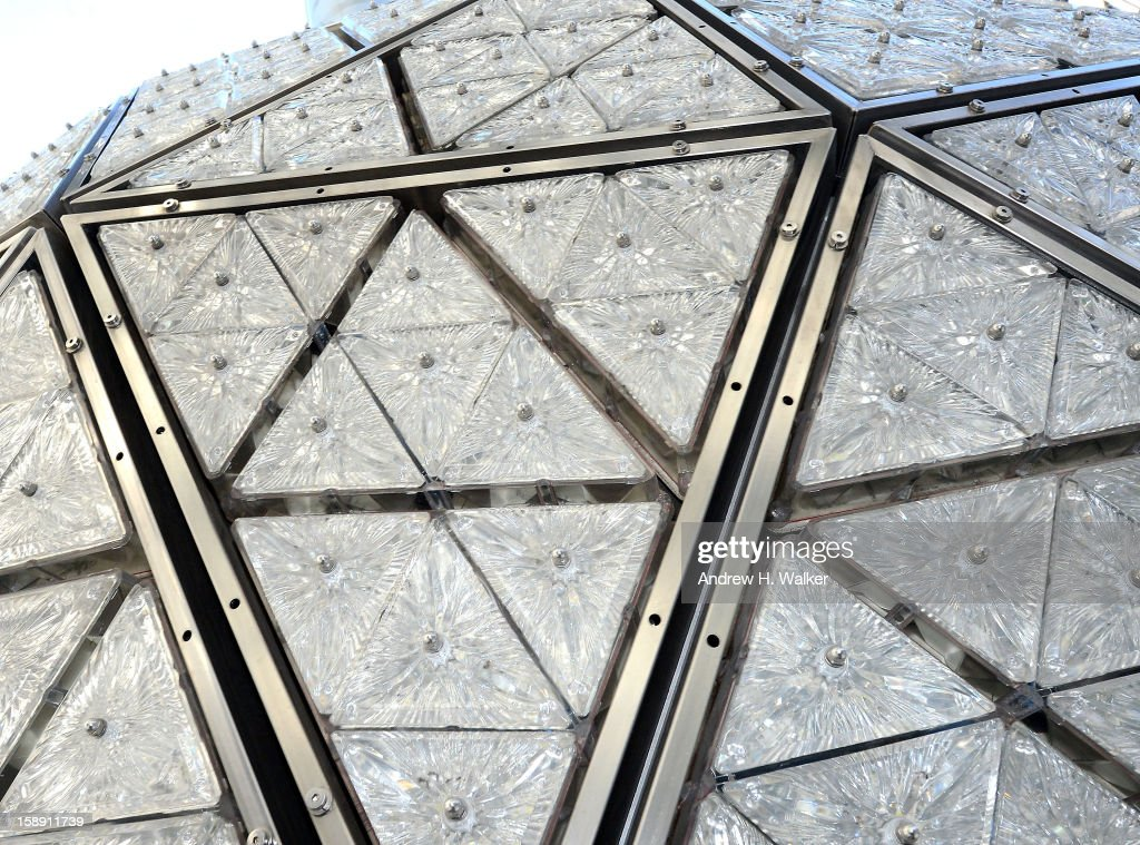Exterior detail of the New Year's Eve Ball Relighting at One Times Square on January 3, 2013 in New York City.