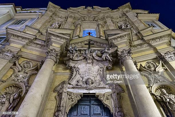 Exterior facade at night Santa Maria Maddalena
