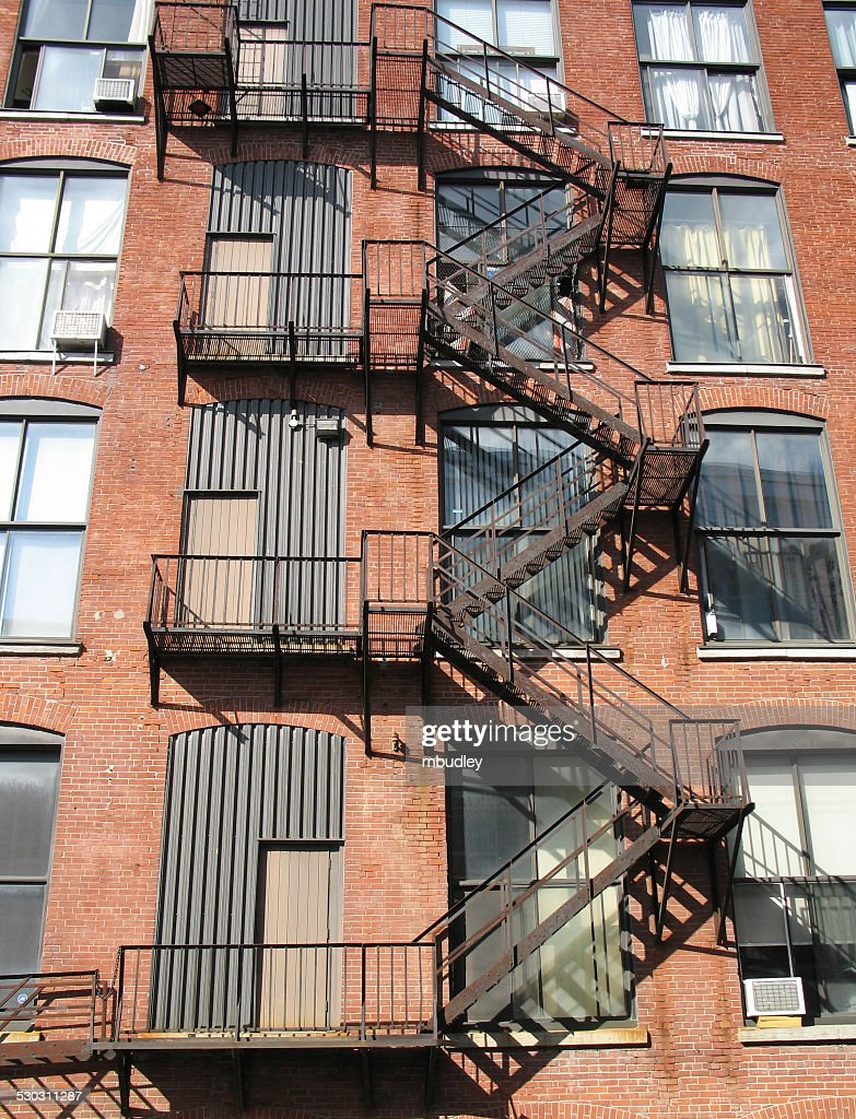 Exterior Fire Escape Stairs : Stock Photo