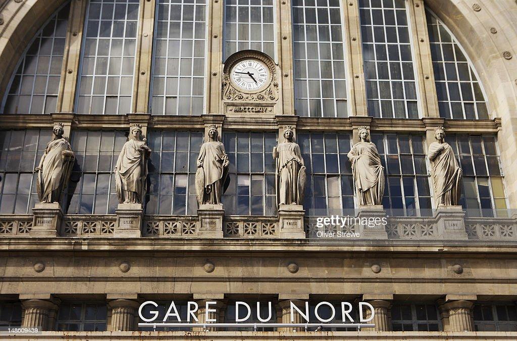 Exterior, Gare du Nord railway station.